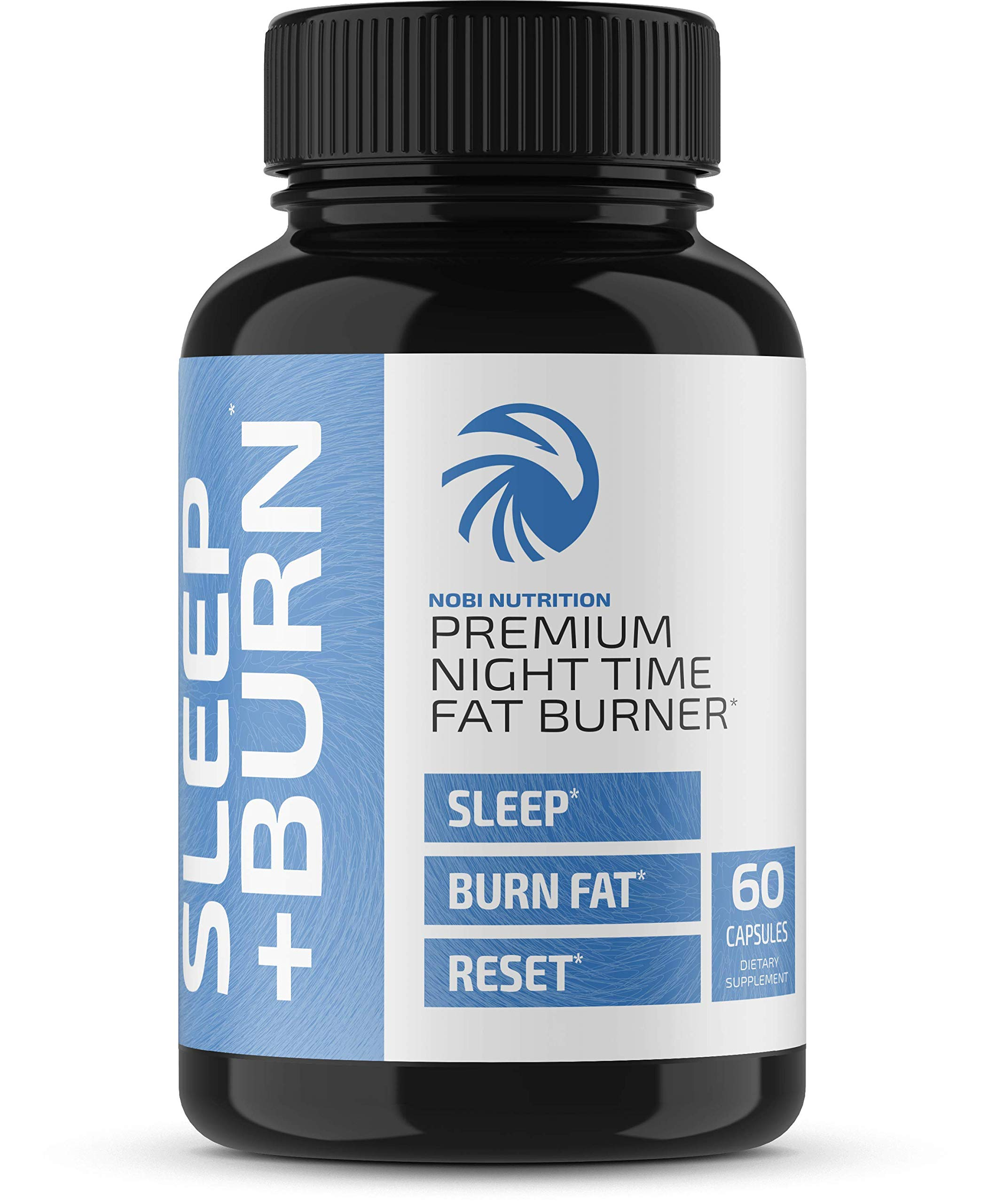Nobi Nutrition Night Time Fat Burner, Sleep Aid an Appetite Suppressant - Stimulant-Free PM Weight Loss Pills & Metabolism Booster for Men and Women - Healthier Diet Pills - 60 Capsules by Nobi Nutrition