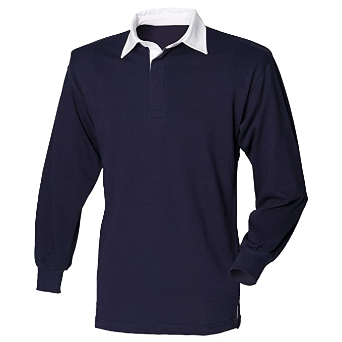 64597209 Front Row Long Sleeve Classic Rugby Polo Shirt at Amazon Men's Clothing  store:
