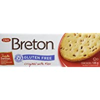 Dare Breton Gluten Free Crackers, Original with Flax –Gluten Free Party Snackswith no Artificial Colors or Flavors–135 Grams