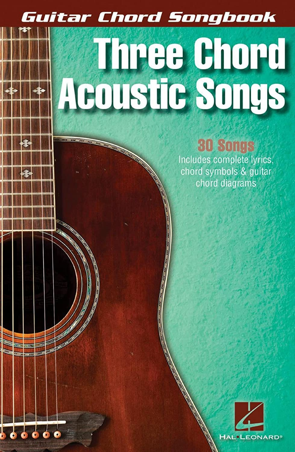 Guitar Chord Songbook Three Chord Acoustic Songs Sheet Music For