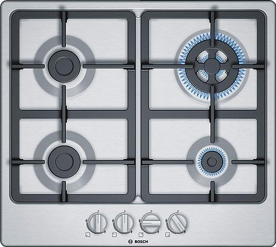 Opinión sobre Bosch Serie 4 PGH6B5B90 hobs Acero inoxidable Integrado Encimera de gas - Placa (Acero inoxidable, Integrado, Encimera de gas, Acero inoxidable, 1000 W, Alrededor)