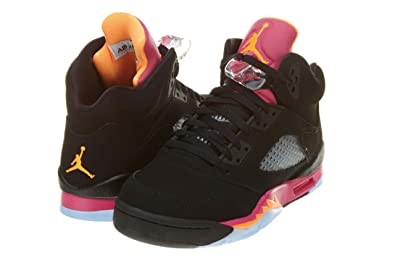 quality design 634c4 289b1 Nike Girls Air Jordan 5 Retro GS Black Bright Citrus Pink (440892-067)