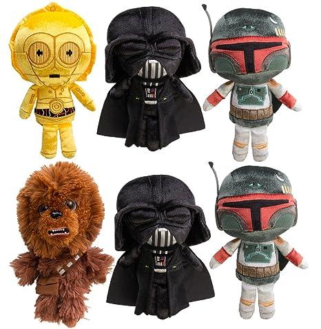 f6bf71b2309 Amazon.com  Star Wars (Set of 6) Disney Galactic Plushies Cute Stuffed  Animals Plush Toys For Kids   Adults Darth Vader Chewbacca Boba Fett C3PO  by Funko  ...