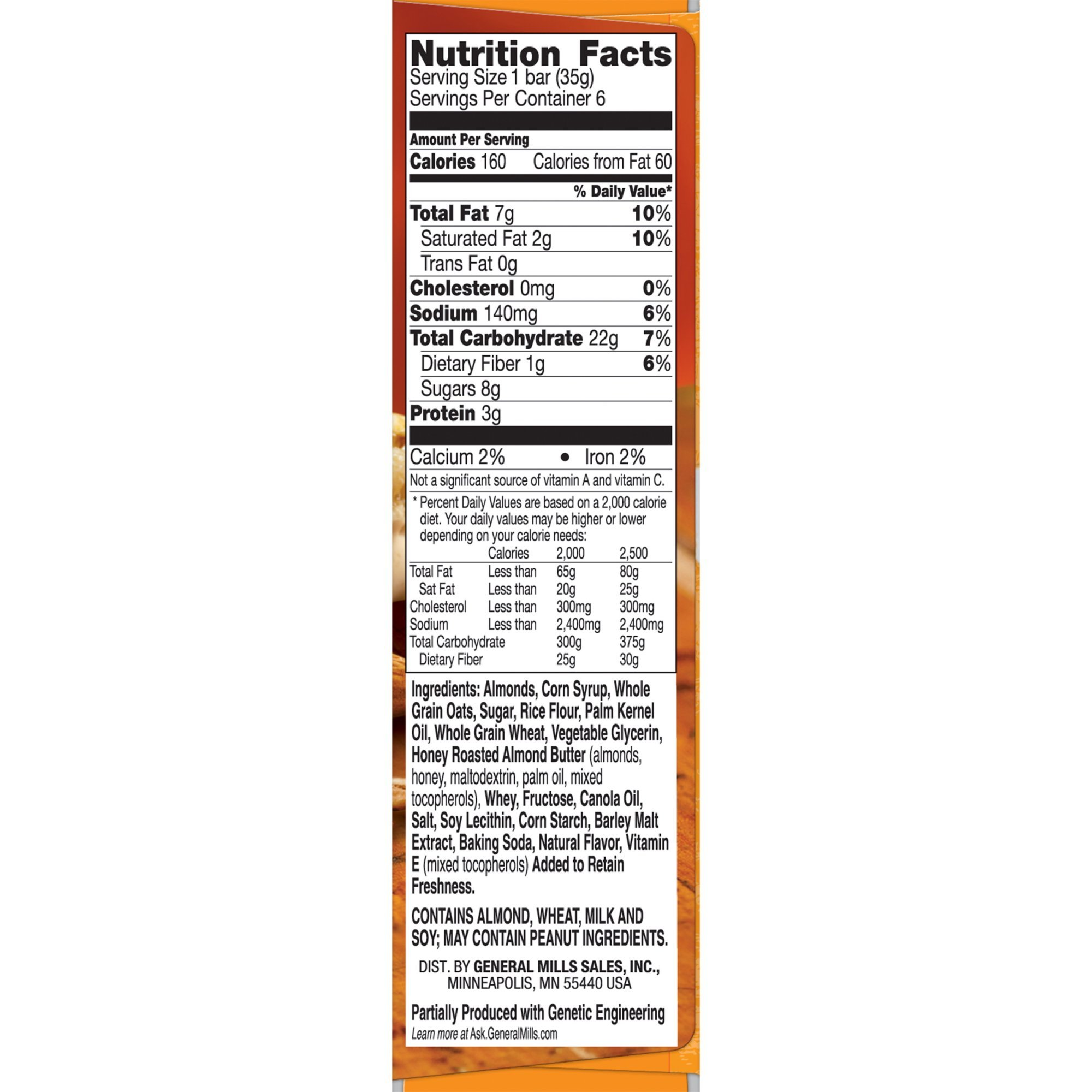 Nature Valley Granola Bars, Sweet and Salty Nut, Almond, 6 Bars - 1.2 oz (Pack of 5)
