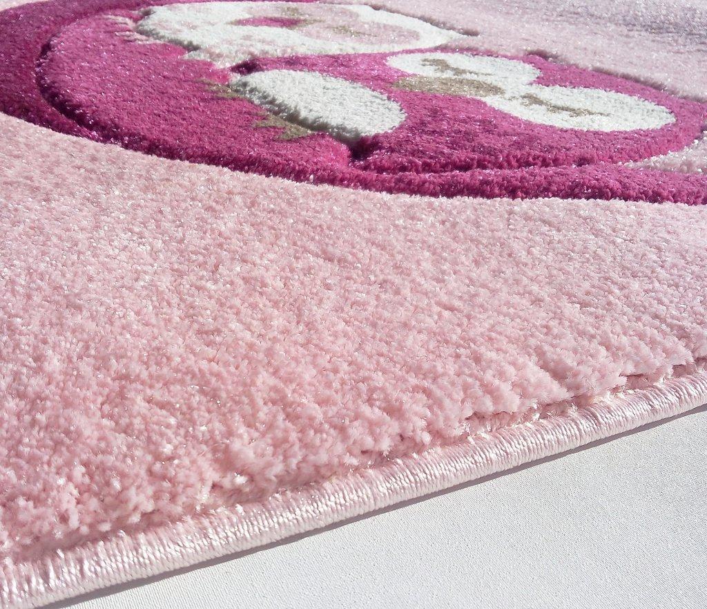 Kinderteppich eule rosa  Kinderteppich Happy Rugs SCHLAFENDE EULEN rosa 120x180 cm: Amazon ...