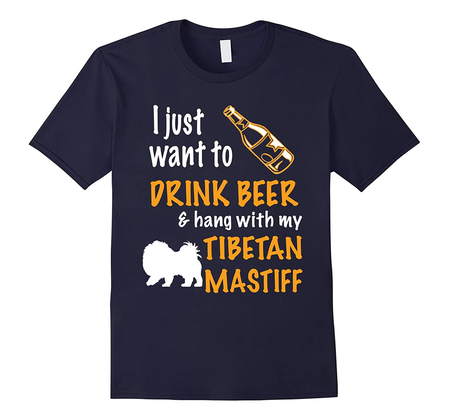 Beer  Hang With Tibetan Mastiff T-Shirt-TH