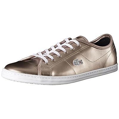 Lacoste Women's Ziane Sneaker Prc, Gold, 9 M US   Fashion Sneakers