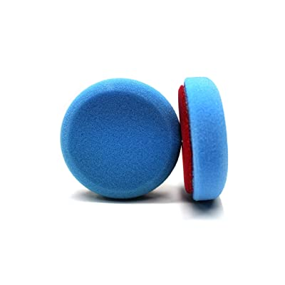 Maxshine Blue Flat Foam Finishing Pad - 3 Inch/ 85mm: Automotive