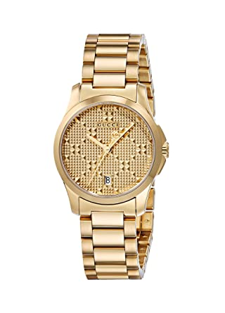 1d0db29e764 Gucci Swiss Quartz and Stainless-Steel Dress Gold-Toned Women s Watch(Model