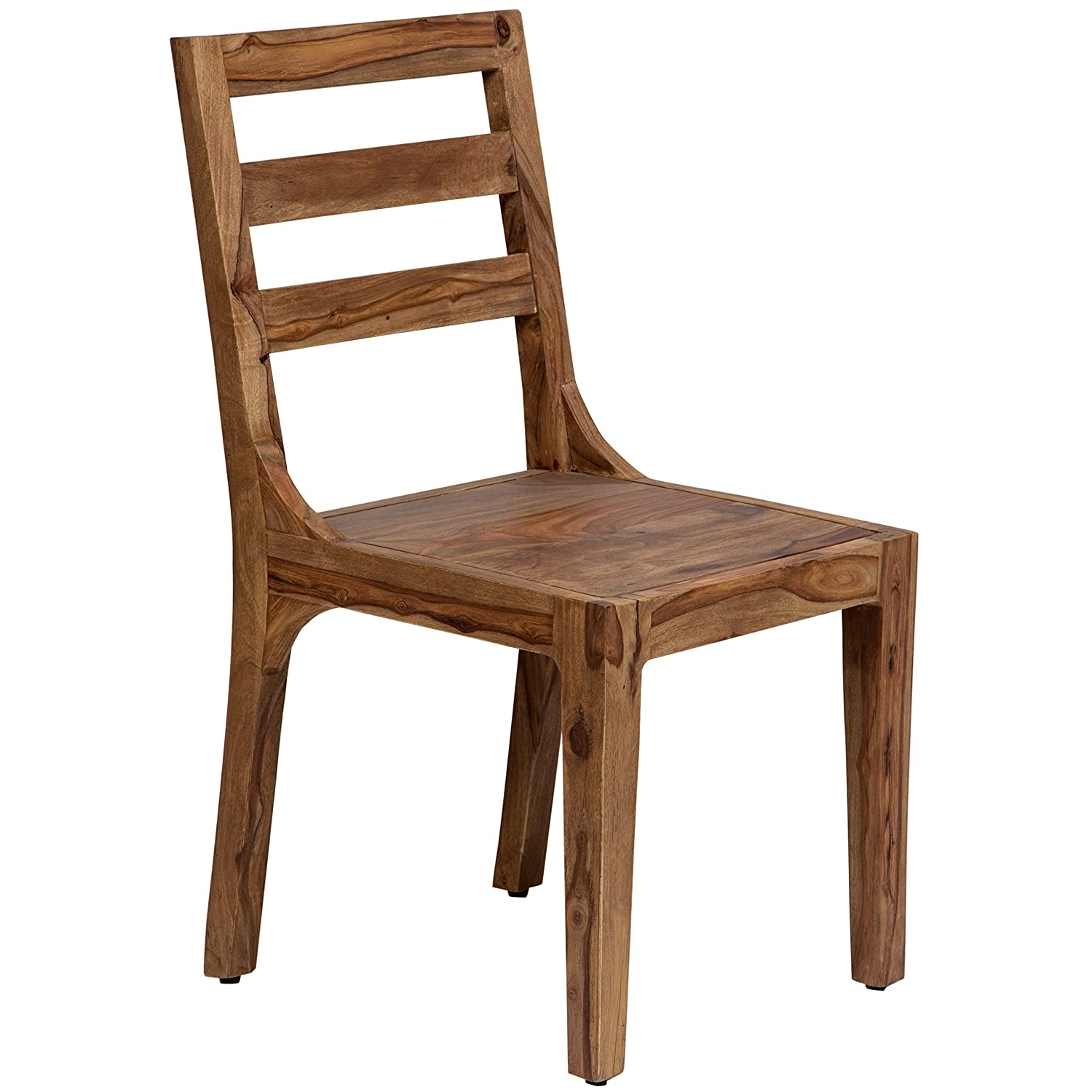 Porter Designs HC1128S01 Urban Century Modern Solid Sheesham Wood Dining  Chair Natural