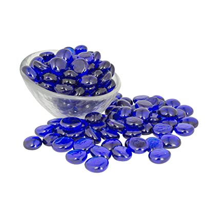 Artisan Supply Cobalt Blue Glass Gems 5 Lbs  — FILLS 1 ½ Quarts Vol   —Non-Toxic Lead Free Vase Filler, Table Scatter, Aquarium Fillers —