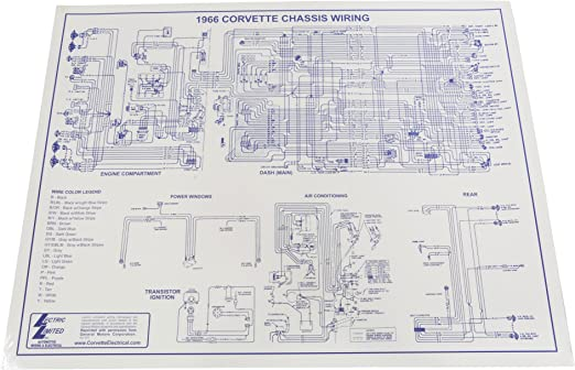 [WQZT_9871]  Amazon.com: 1966 Corvette Wiring Diagram 17 x 22: Automotive | 1966 Corvette Wiring Diagram |  | Amazon.com
