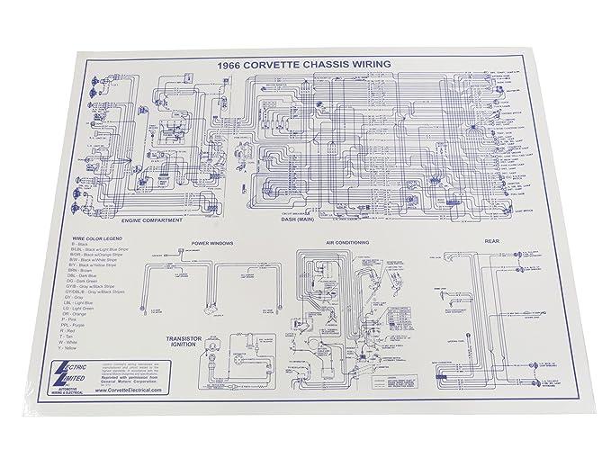 Astounding Amazon Com 1966 Corvette Wiring Diagram 17 X 22 Automotive Wiring 101 Ferenstreekradiomeanderfmnl