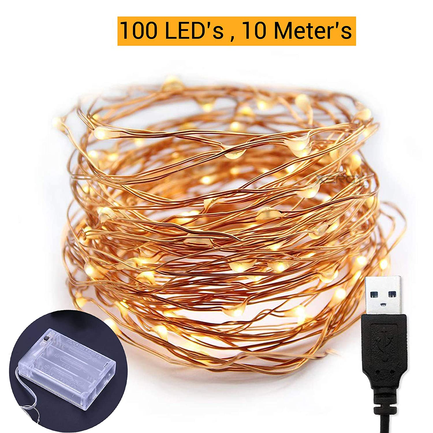 TIED RIBBONS 10 Meter 100 LED Fairy String Lights - USB And
