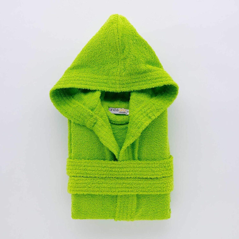 6-8 Anni Linea Oro Accappatoio Bambino Junior Verde