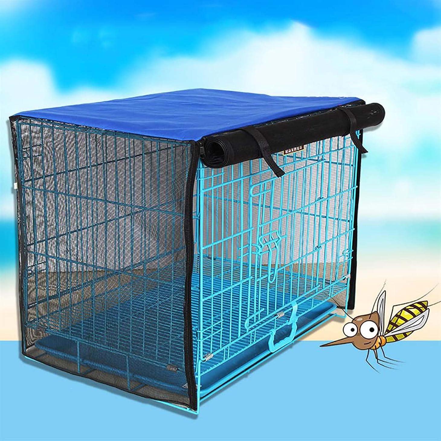 天気ピット滞在Running Pet ペットサークルカバー おやすみカバー イージーホーム ケージカバー リラックスケージ ブルー