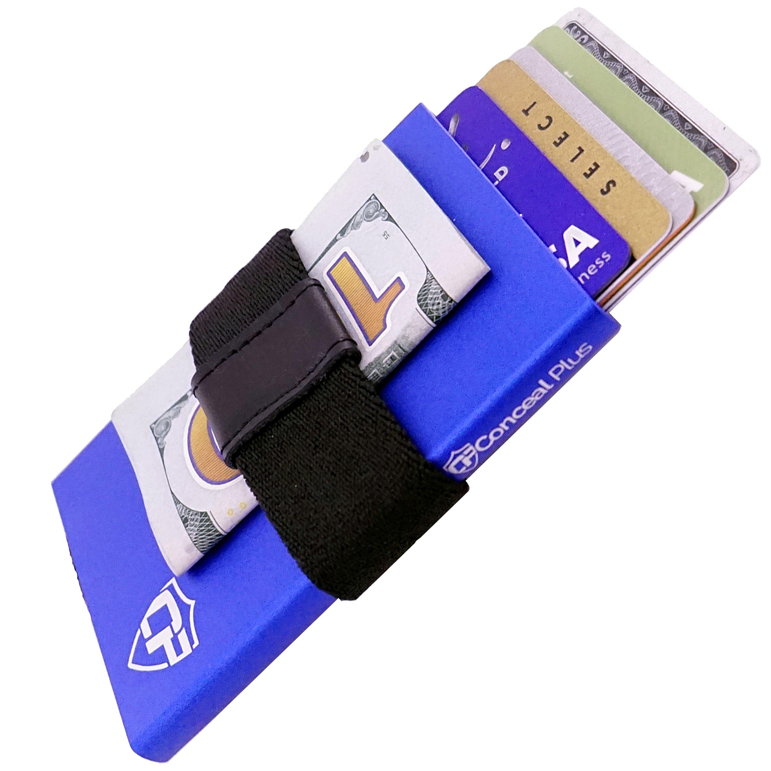 Card Blocr Money Clip Card Holder with Bottom Trigger   Best Minimalist Wallet 2018   RFID Blocking (Blue)
