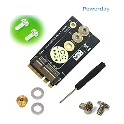 Amazon com: powerdayBCM94360CS2/BCM943224PCIEBT2 Card to NGFF(M 2