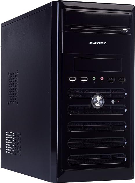 Hiditec Q6 PSU500 - Caja de Ordenador (Micro-Tower, PC, De plástico, Acero, Superior, Micro-ATX, 2 x 5.25, 1 x 3.5): Amazon.es: Informática