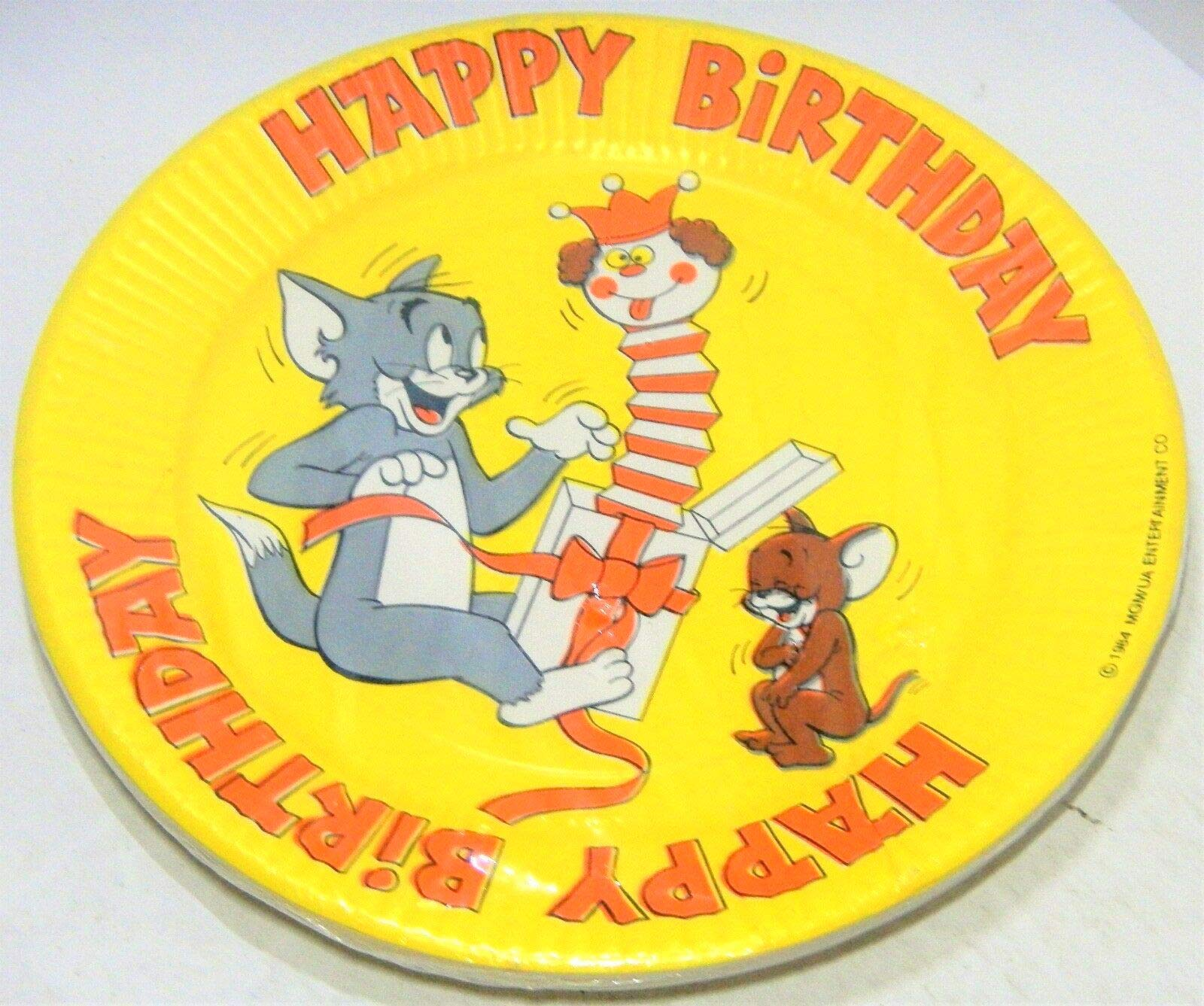 Tom and Jerry Party Plates Lunch Birthday Favors Decoration Partyware 8 Pieces