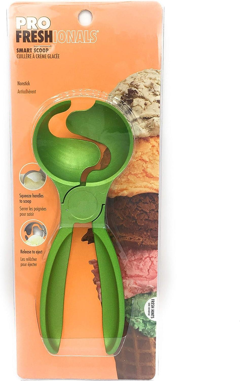 Smart Scoop Squeeze Handle Nonstick Ice Cream Scooper (green)