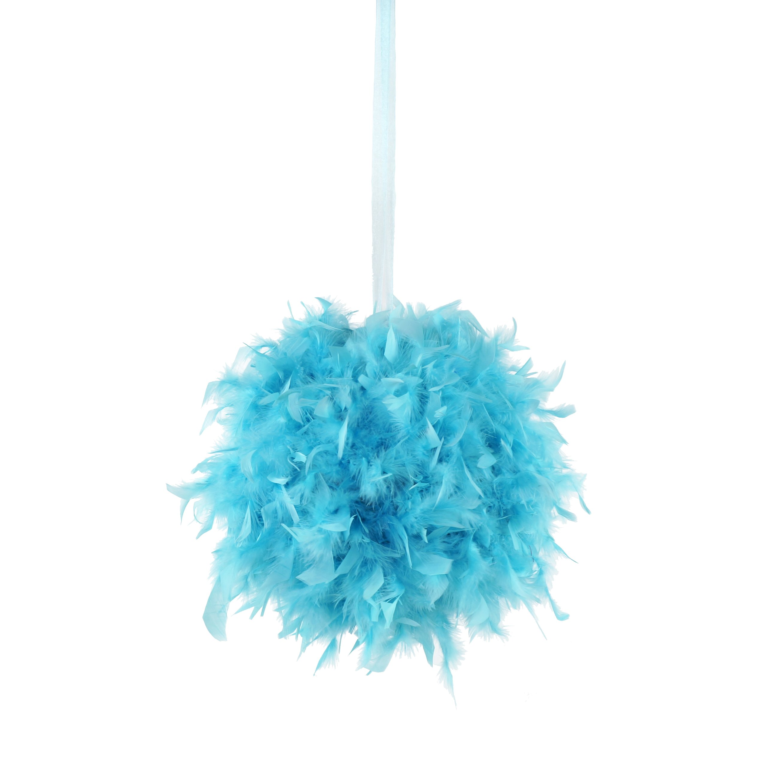Zucker Feather (TM) - Chandelle Feather Pom Poms - Lt Turquoise