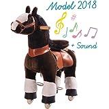 Ponycycle - cheval à roulettes marron Petit