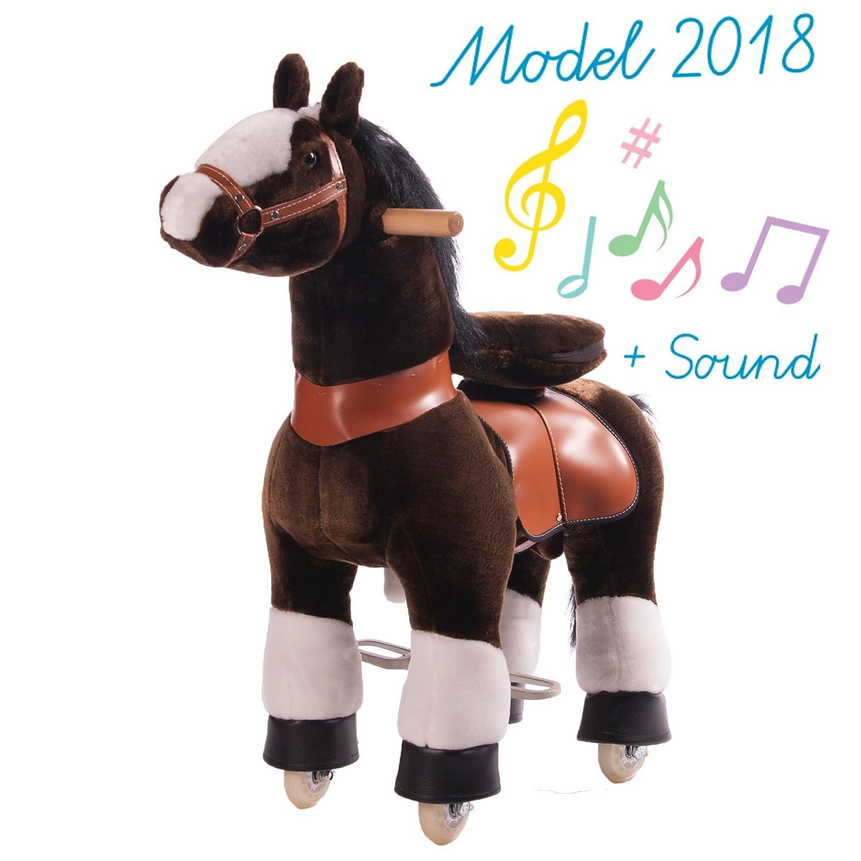 Ponycycle Caballo Correpasillos Brown Pequeño: Amazon.es: Juguetes ...