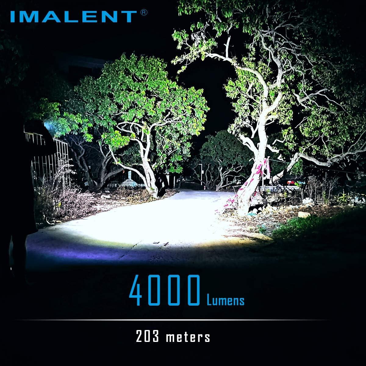Imalent LD70 EDC Lampe torche LED rechargeable haute performance 4000 lumens avec LED CREE XHP70.2 6 niveaux de luminosit/é pour le camping et la randonn/ée noir avec /écran OLED