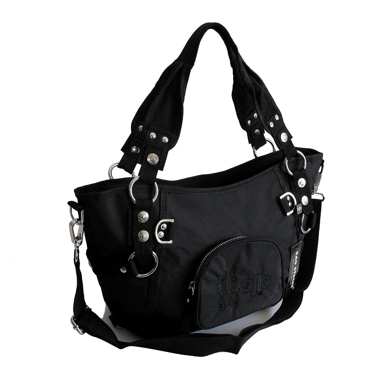 017284d04476c modische sportliche Damen Handtasche Umhängetasche Shoppertasche  präsentiert von ZMOKA® in versch Farben Schwarz Jennifer Jones