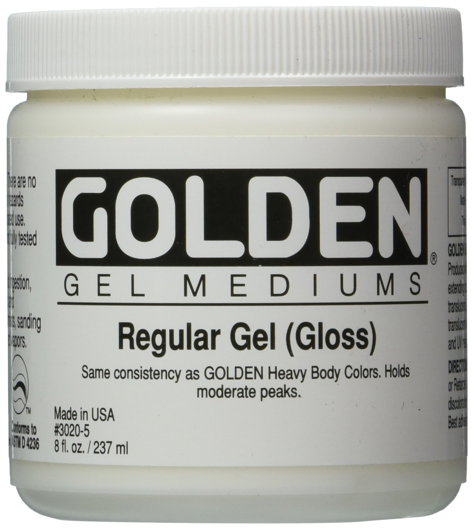 Golden Regular Gloss Gel Medium-8 ounce (30205) by Golden
