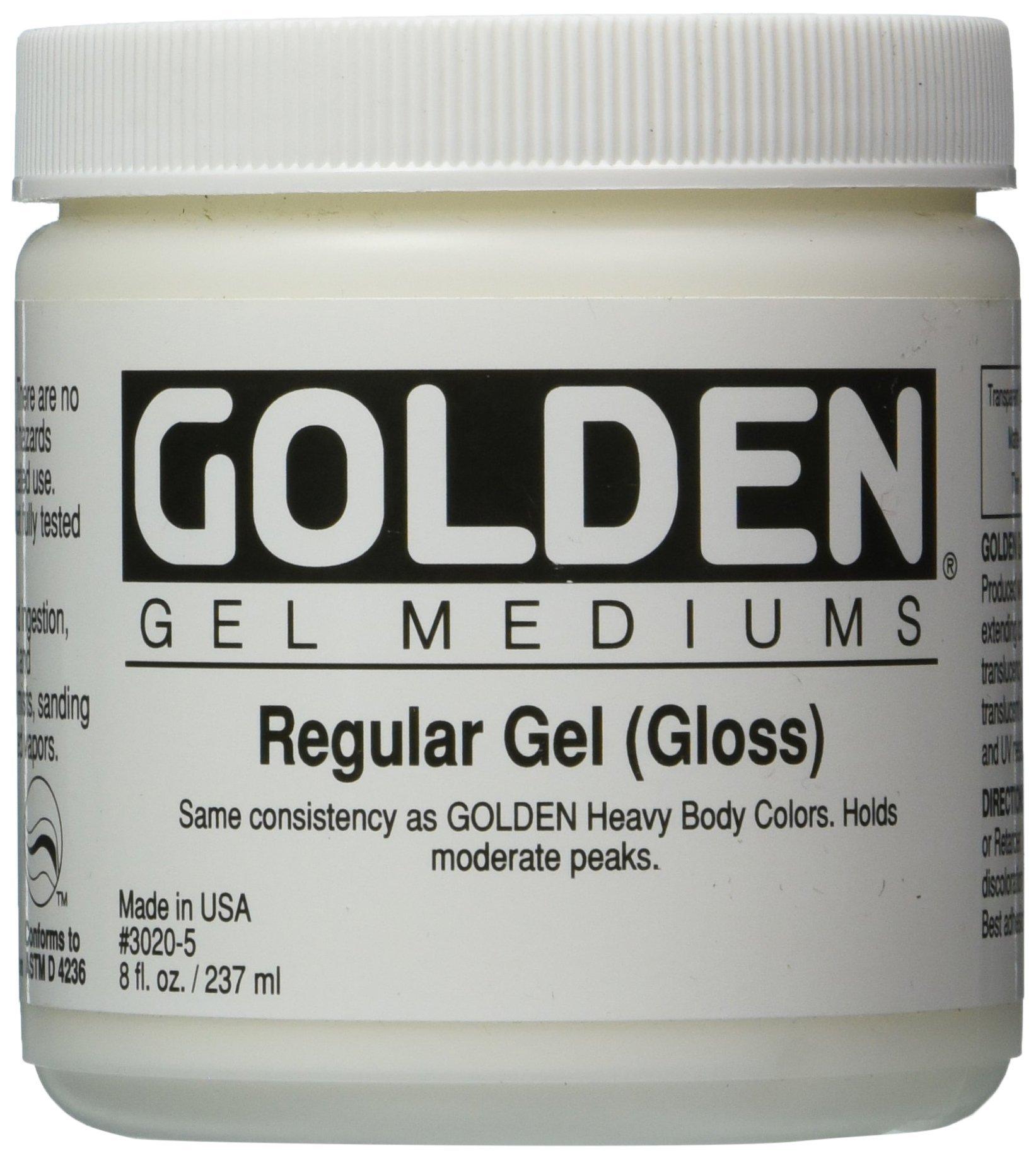 Golden Regular Gloss Gel Medium-8 ounce (30205)