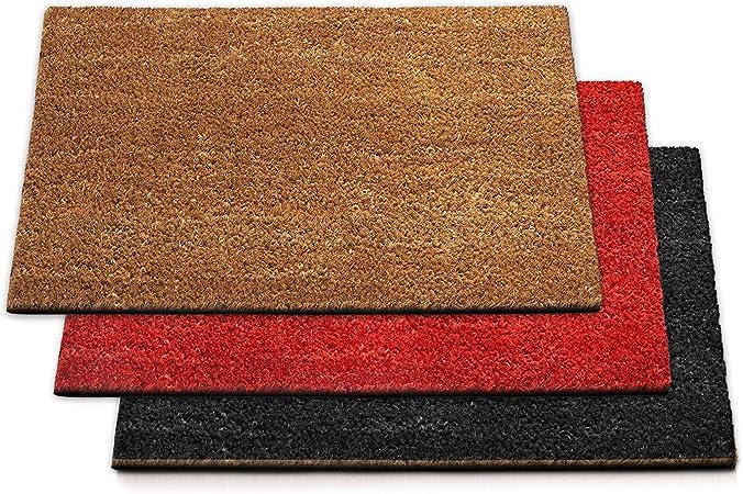 Casa Pura Dirt Trapper Mat Coir Doormat Natural Welcome Mat Coconut Fibre Non Slip Front Door Mat 24mm Thickness 80x100 Cm Amazon Co Uk Kitchen Home