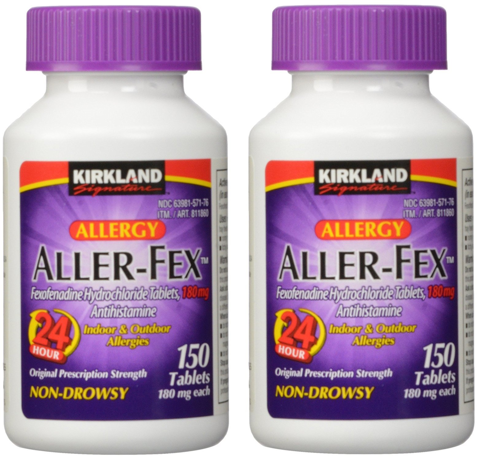 Kirkland Signature Aller-Fex, 180 mg, 150 Count (2 Pack) by Kirkland Signature