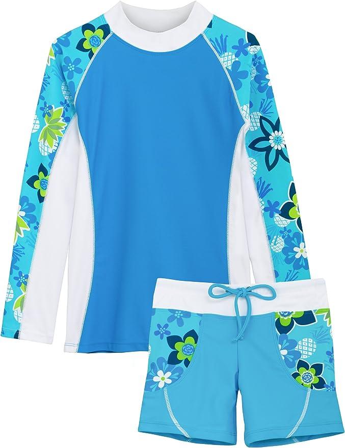 Amazon.com: Tuga traje de baño de dos piezas para niñas de 2 ...