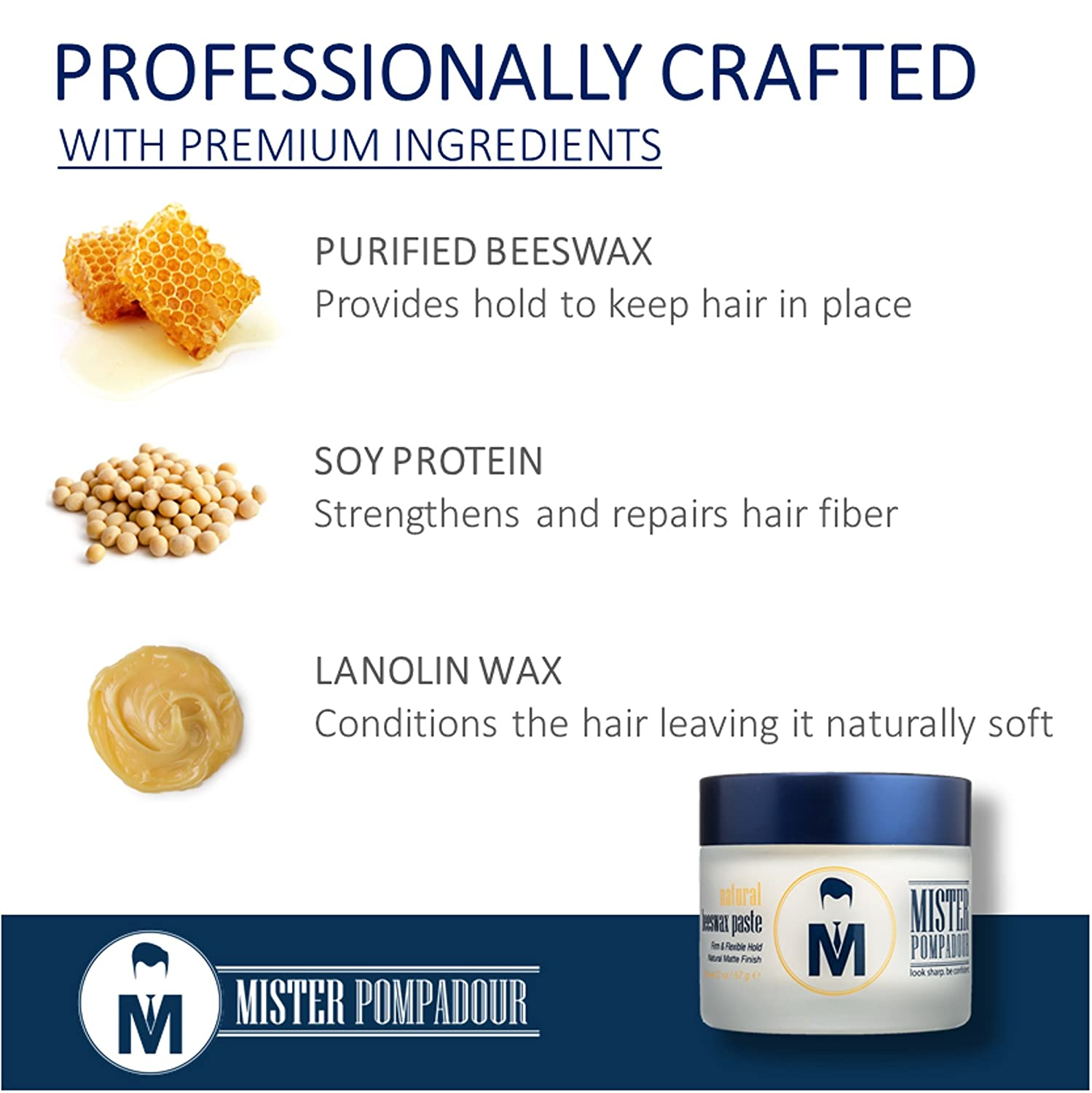 mister pompadour natural beeswax paste for men hair