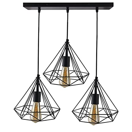 Buy homesake 3 lights linear cluster chandelier black diamond homesake 3 lights linear cluster chandelier black diamond hanging pendant light kitchen area and aloadofball Choice Image