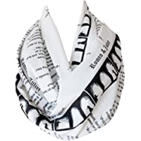 Etwoa's Shakespeare Romeo and Juliet Book Infinity Scarf Circle Loop Scarf