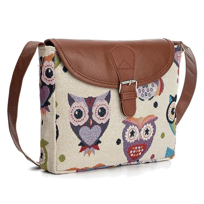 cc9c86f7896 Nawoshow Fashion Women Lady Satchel Many Owl Shoulder Bag Cross-Body Bag  Messenger Bag