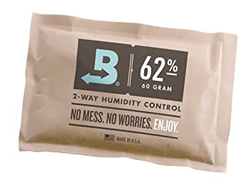 Superior Boveda 62 Percentage RH Individually Over Wrapped 2 Way Humidity Control  Pack, 60gm