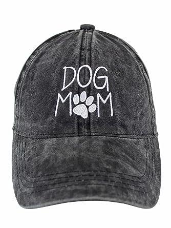 55ce09bccda Luxury Divas Dog Mom Black Cotton Baseball Cap Hat at Amazon Women s ...