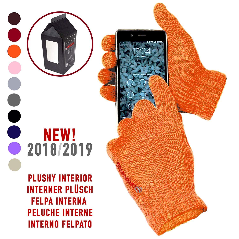 AXELENS Guanti Touch Screen Tattili Invernali Capacitivi Caldi Unisex per Smartphone Cellulari e Tablet Confezione Regalo Inclusa Grigio Scuro 8058669305389