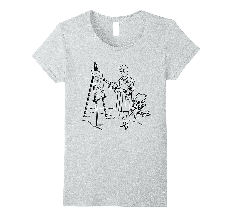Artist Painting Shirt Art Teacher Professor T Shirt by Artist Tees