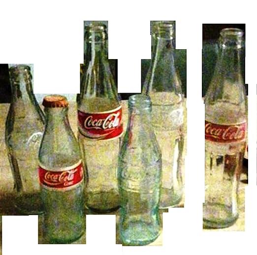 Coca Cola botellas de vidrio de colección 5 Soggetti Precio ...