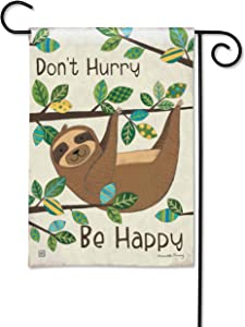 BreezeArt Studio M Happy Sloth Decorative Garden Flag – Premium Quality, 12.5 x 18 Inches