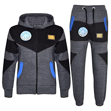 0684ec58f Amazon.com: Kids Tracksuit Boys Deluxe Edition Badged Hoodie Bottom Jogging  Suit 7-13 Years: Clothing