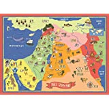 """Bible Story Map Poster (17"""" x 24"""" Laminated)"""