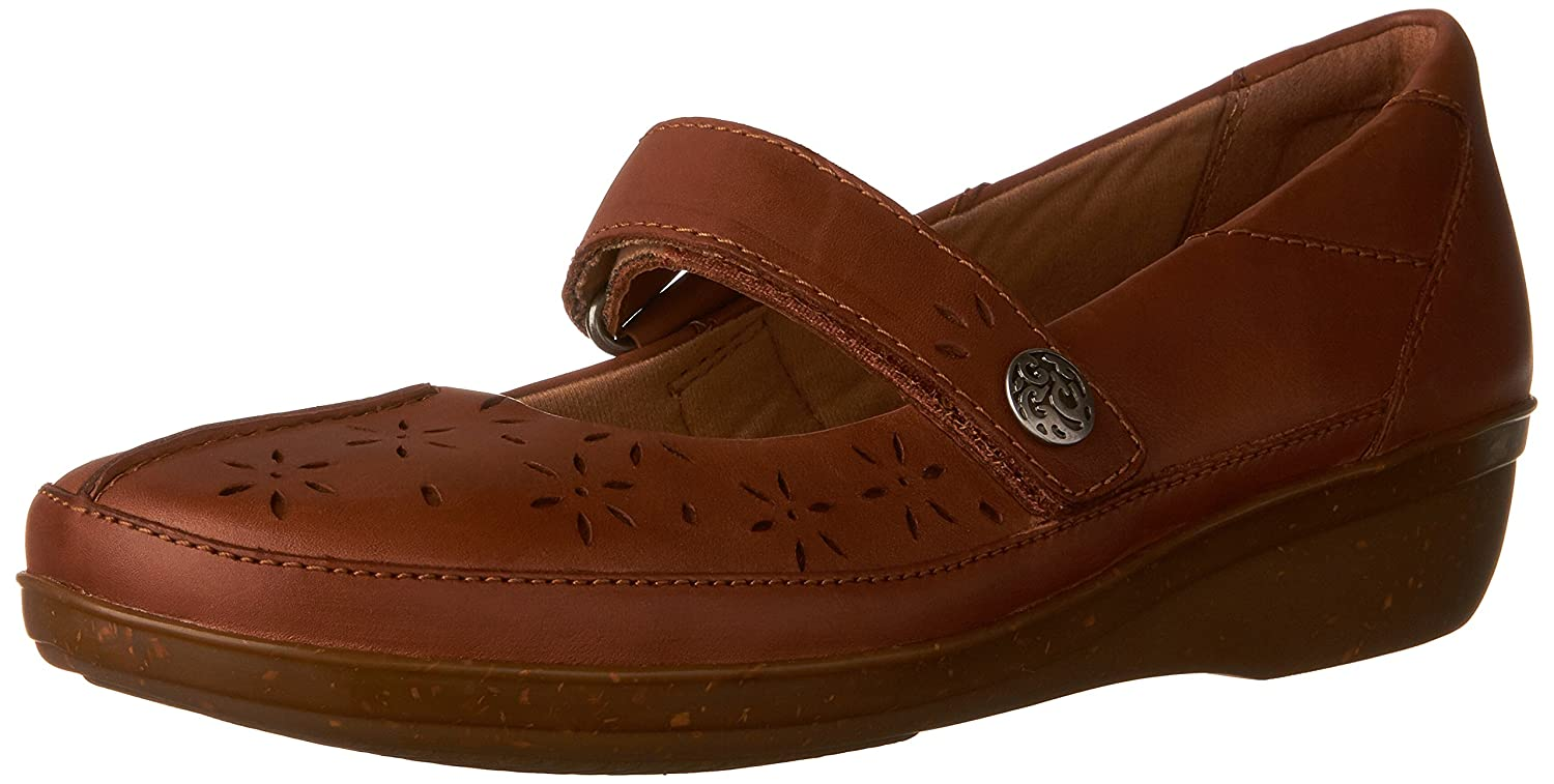 CLARKS Women's Everlay Bai Mary Jane Flat B01IABK078 6.5 B(M) US|Tan