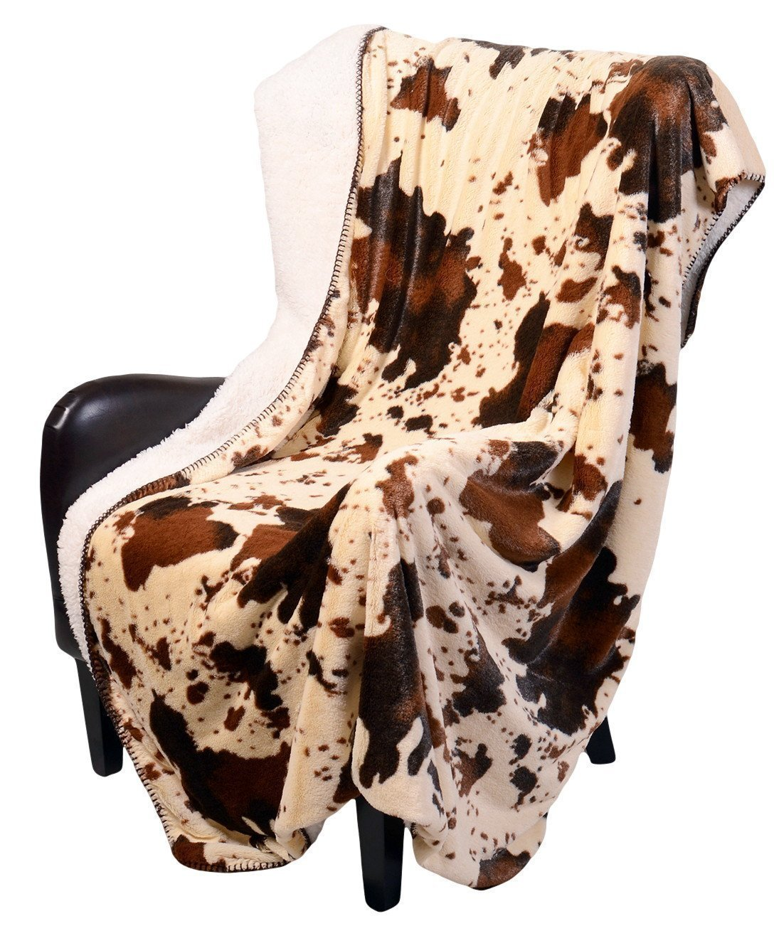 REGAL 50 x 70 Sherpa Luxury Throw Blanket - The Wood's White Camo Regal Comfort COMINHKR064240
