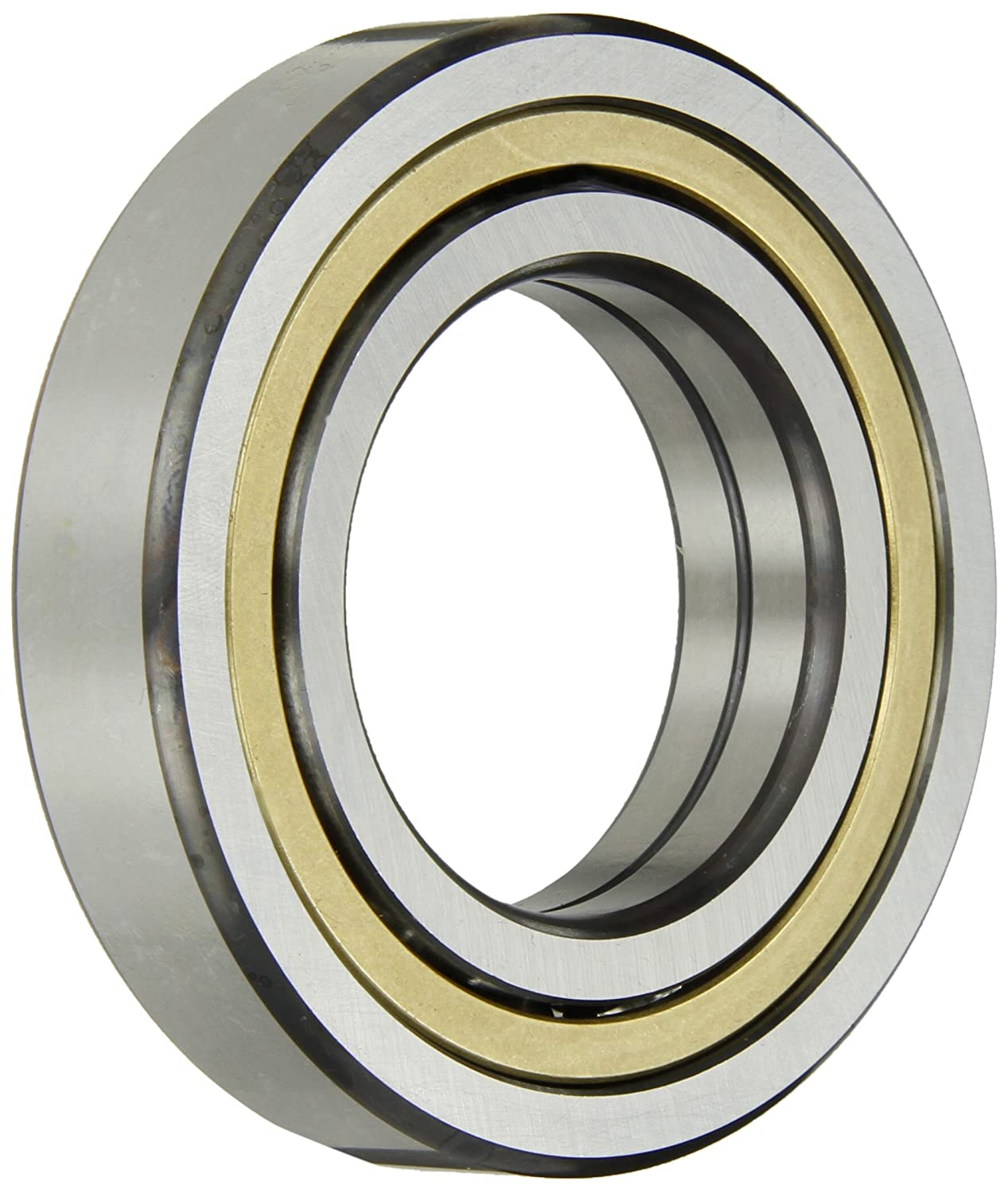 Single Row FAG QJ207MPA Angular Contact Ball Bearing Open 17mm Width Metric Brass Cage Normal Clearance 35mm ID 72mm OD 9800lbf Dynamic Load Capacity 35/° Contact Angle 18000rpm Maximum Rotational Speed 8000lbf Static Load Capacity